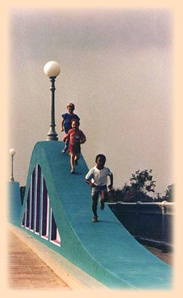Children on McKee Street Bridge